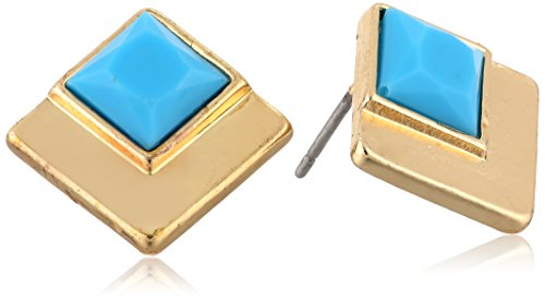 kensie-shes-a-wildflower-gold-plated-turquoise-square-inset-stud-earrings