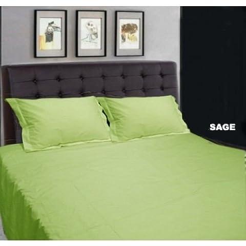 Una sola capa muy suave 600 juego de ropa de cama algodón egipcio 600 TC plano de otros tipos de productos sábana con fundas de almohada para cama de matrimonio UK verde de 100% algodón acabado diseño de bandera de