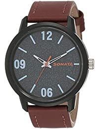 Sonata Volt+ Analog Grey Dial Men's Watch-77085PL01