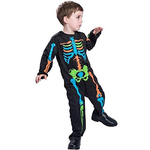 Bett Kostüm Im Rollenspiele - LLLingc Unisexkinderbaby-Halloween-buntes Skeleton Overall-Kostüm,Sicherheit ist Bett, Bier, alte Freunde (Größe : M)
