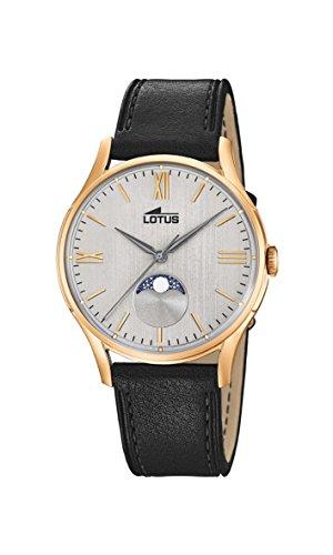 Lotus Watches Homme Phase de Lune Quartz Montre avec Bracelet en Cuir 18428/1