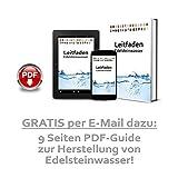 Premium Edelstein Basis-Mischung | 100% Natursteine | Wassersteine-Set Grundmischung: Rosenquarz, Amethyst, Bergkristall - 5