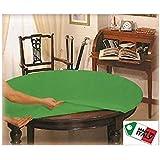 V.I.P. VERY IMPORTANT PILLOW Mollettone Copri Tavolo 140 con Elastico salvatavolo Idea Regalo Poker, Tela, Rotondo diam cm 13