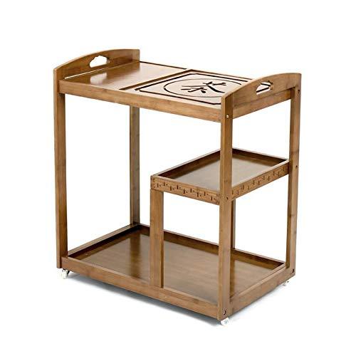 Seite Tee-tabelle (CJC Regal Tee Einstellen Wagen Karren Tabelle Ende Seite Nachttisch Lager Flur Standregale (Farbe : T5))