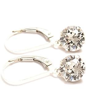 Hänge-Ohrringe Swarovski-Kristall Sterlingsilber-Verschluss mit Geschenkschachtel hergestellt in England wunderschöner...