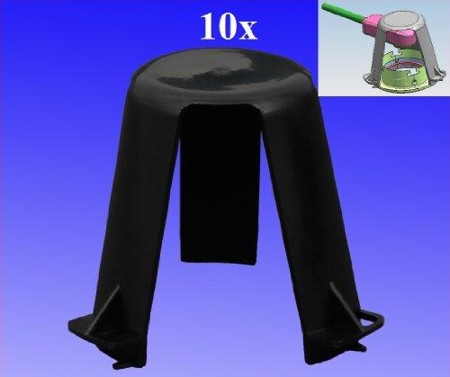 Trango® 10er Pack Abstandshalter Hitzeschutz TG-ASH für LED Halogen Einbauleuchten Einbaustrahler Einbauspots