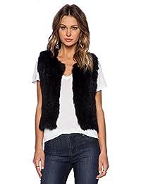 Malloom® Mujer chalecos piel sintética sin mangas abrigo Prendas de abrigo Chaqueta larga del pelo