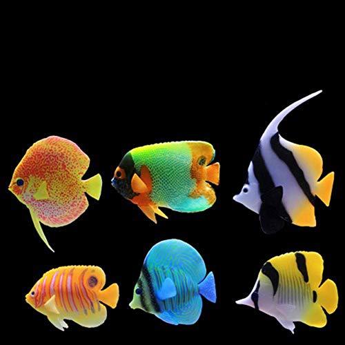 Monllack Kunststoff Aquarium Simulation Gefälschte Künstliche Tropische Fische wassersäule licht Blase Wasser Ornament Ornament Landschaft (Tropische Fische Kunststoff)