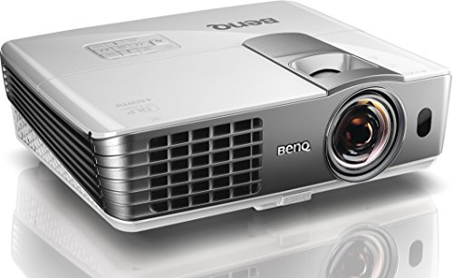 BenQ W1080ST 1080p Full HD Short-Throw Video Projector  2200 Lumens  100 inch at 1 5 m  2D Keystone for Side Projection  HDMI x 2  MHL and Optional Wireless Kit  - White Grey