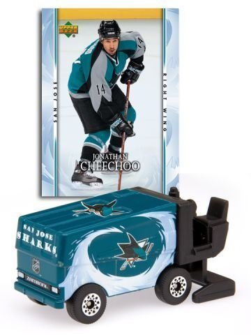 san-jose-sharks-2007-08-nhl-zamboni-with-jonathan-cheechoo-trading-card-by-san-jose-sharks