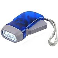 DIGIFLEX Linterna Eléctrica 3 LED de Mano sin Pilas con manivela de Viento para Acampada de Supervivencia