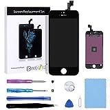 Beefix Écran Compatible pour iPhone SE/5S LCD Noir, LCD Ecran Tactile Digitizer Assemblée avec des Outils de Réparation Gratuit