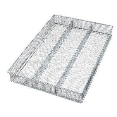 YBM Home silber Mesh Besteck Halter für die Schublade Utensil Besteck Organizer/Tablett 3-Compartment keine Angabe Stars Utensil Halter
