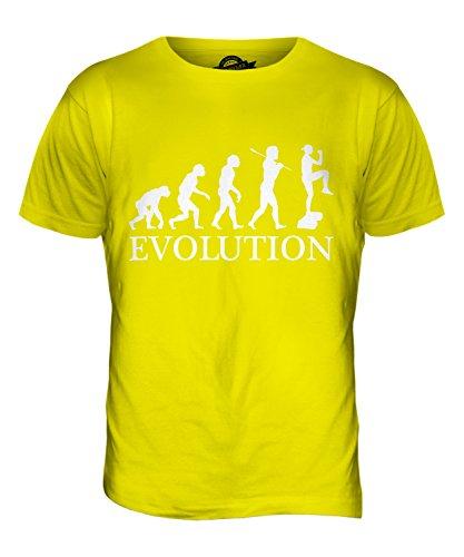 CandyMix Aerobic Evolution Des Menschen Herren T Shirt Zitronengelb