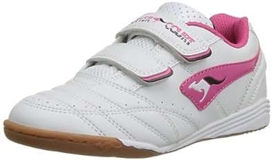 KangaROOS Power Court, Mädchen Sneakers, Weiß (white/magenta 067), 27 EU