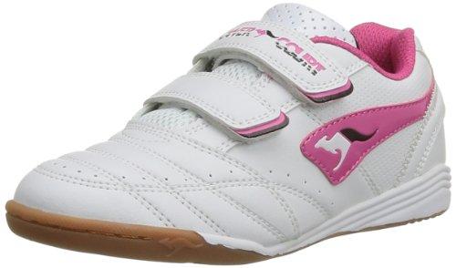 KangaROOS Power Court, Sneaker unisex bambino, Bianco (Weiß (white/magenta 067)), 31
