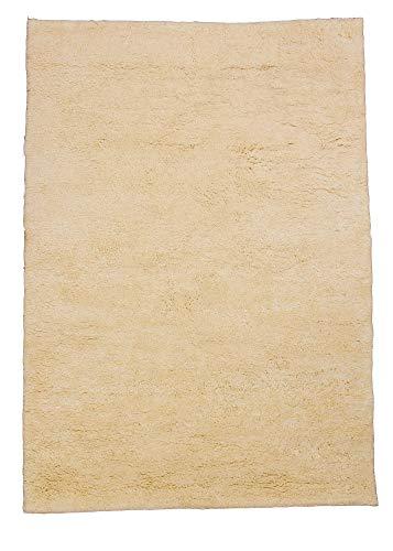 Preisvergleich Produktbild Berber Teppich natur aus 100% Schurwolle Rabat 15 / 15 simple Wollweiss in 27 Größen,  Größe: 90x160 cm