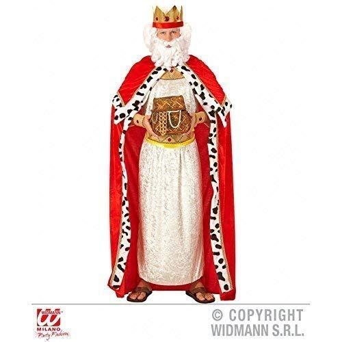Lively Moments Kostümzubehör Königsumhang mit Königskrone / Königinnenumhang / Royal King Cape für Erwachsene Gr. XL = 54