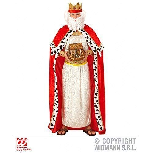 Kostüm Fürsten - Lively Moments Kostümzubehör Königsumhang mit Königskrone / Königinnenumhang / Royal King Cape für Erwachsene Gr. XL = 54