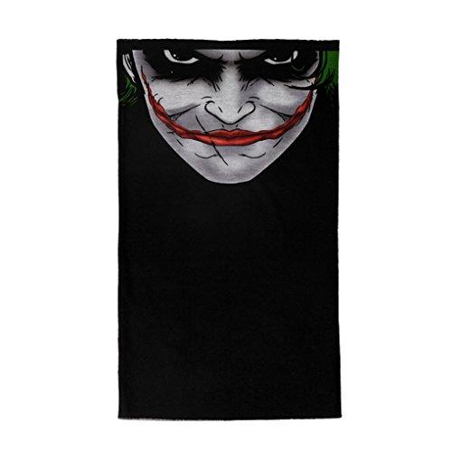 Vovotrade Cool Clown Fahrrad Motorrad Neck Tube Ski Schal Face Mask Balaclava Halloween Party (E)