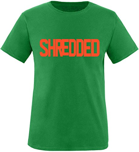 EZYshirt® Shredded Herren Rundhals T-Shirt Grün/Orange