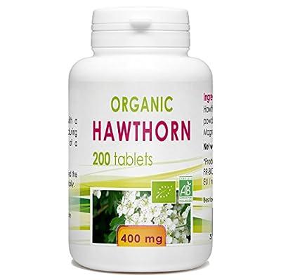 Organic Hawthorn 200 tablets 400 mg by Bio Atlantic