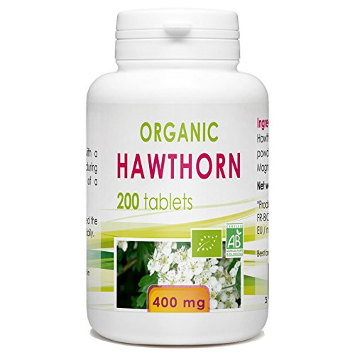 Organic Hawthorn 200 tablets 400 mg Test