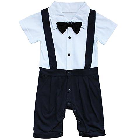 TiaoBug Vêtement de Bébé Garçon Costume Romper Manches Courtes Été