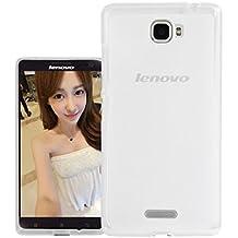 Prevoa ® 丨Lenovo S856 Funda - Transparent Silicona TPU Protictive Carcasa Funda Case para Lenovo S856 - 5.5 Pulgada Smartphone - Blanco