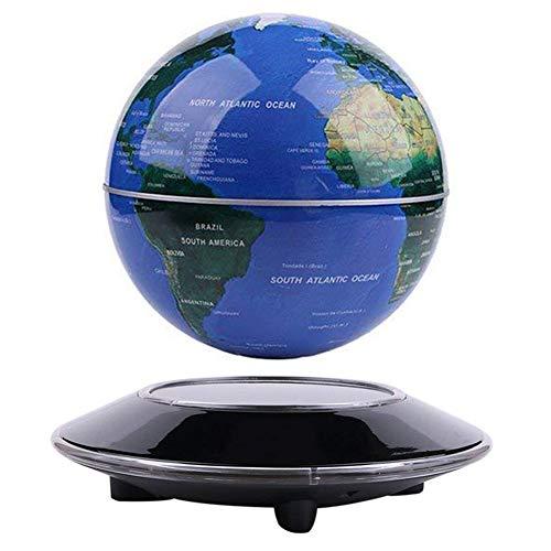 Globo Flotante de levitación magnética Mapa Mundial rotativo - Globo antigravedad para Regalo Educativo - Oficina en casa Decoración de Escritorio de Clase – (Azul EUR Enchufe)