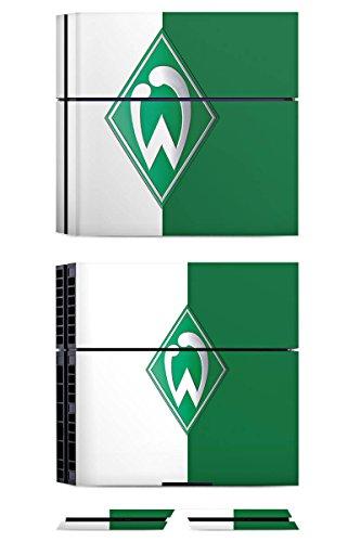 Sony Playstation 4 PS4 Folie Skin Sticker aus Vinyl-Folie Aufkleber Werder Bremen Fanartikel SV Bundesliga Fußball