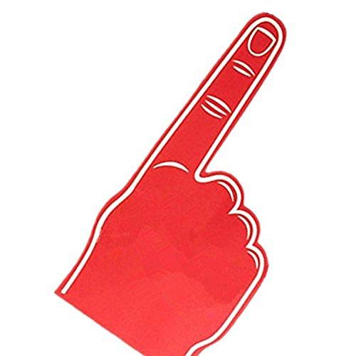 Palme bedruckt giant EVA schaum hand-handschuh spitzen finger - Rot
