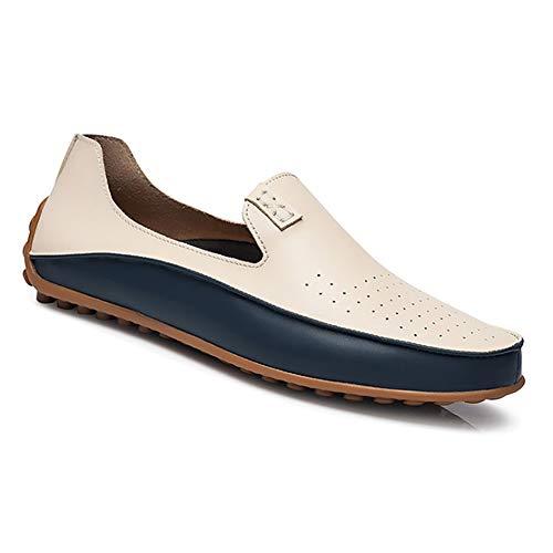 c5623548f60b Yudesun Business Scarpe Mocassini Uomo - Basse Pelle Piatto Pantofole Slip  On Penny Loafers Scarpe da