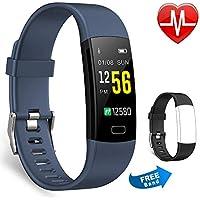 Juboury Fitness Armband, Fitness Trackers Aktivitätstracker Pulsuhren Wasserdicht IP67 Schrittzähler Fitness Uhr Farbdisplay Für Damen Herren und Kinder Kompatibel für iPhone Android Handy