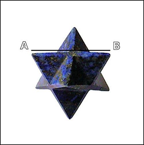 Healing Crystals India - Pietra preziosa naturale intagliata a mano, 12punte, Merkaba, con certificato di (Pietra Amethyst Silver Ring)
