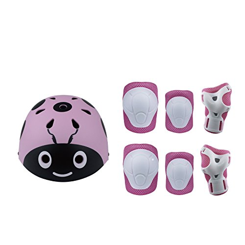 UniEco Skateboard Helm Protektoren Set Für Kinder, Schutzset Ellenbogenschützer Handgelenkschoner Knieschoner für Skate, Fahrrad, Radfahren, Reiten, Skateboard, Roller Skate