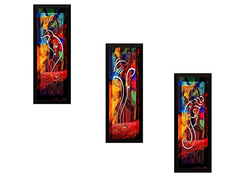 PPD Village Lady Framed Painting (Wood, 15 cm x 3 cm x...
