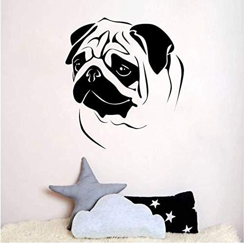 9 Cm * 65 Cm Mode Mops Hunde Für Kinderzimmer Dekor Wandaufkleber Pvc Aufkleber ()