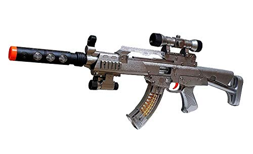 Sturmgewehr XXL Militär Pistole Gewehr Spielzeuggewehr Kostüm LED Sound