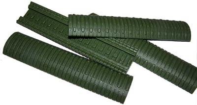Dye Modular–Protectores para rieles (4unidades), color verde
