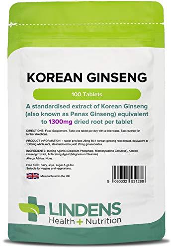 ginseng rosso koreano 1300 mg 100 tavolette