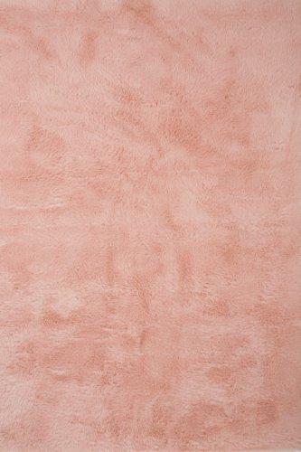 Pilepoil Teppich - rosa 140 x 200 cm - Kunstpelz - französische Herstellung