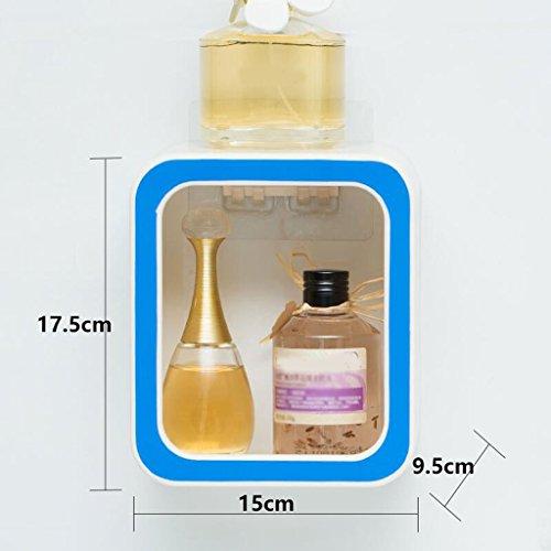 Tapis de bain Xuan - Worth Having Créative numéro 0 Style Porte-Savon Bleu Ventouse Type étagère