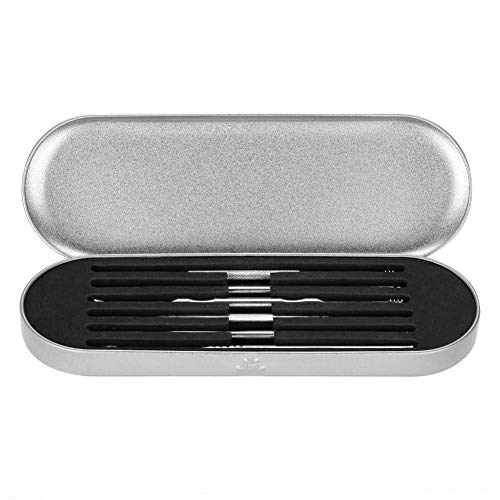 H.Yue Ear Wax Remover, 6pcs Stainless Steel Ear Pick Hygiene Care Sets with Storage Box for Kids Adults Elderly and Pets