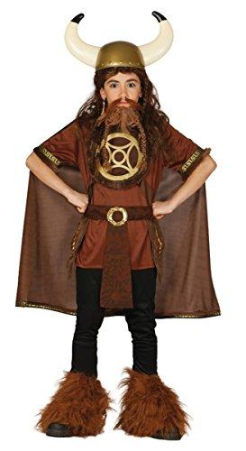 Krieger Kostüm Wilde - Guirca Wikinger Kostüm für Kinder Gr. 110-146, Größe:140/146