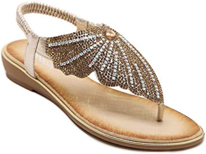 la femme a été le strass, clip sandales toe papillon tong sandales clip estivale croûton chaussures de plage l'été occasionnels. aed815