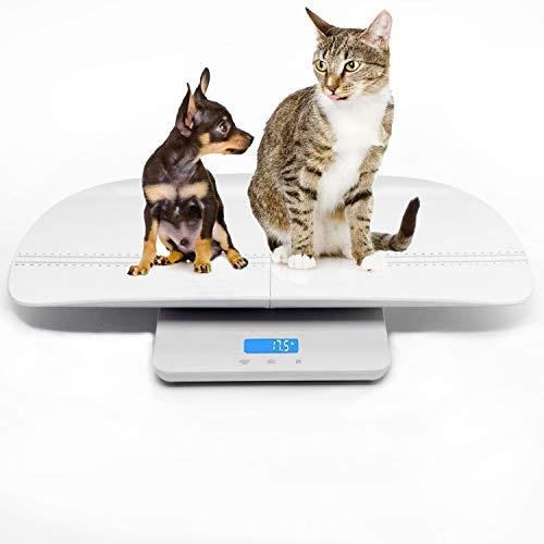 Espera que su mascota crezca.  La báscula digital para mascotas iBaby-Fish le ayuda a medir el peso y el tamaño del animal en el caparazón. Adecuado para perros, gatos.  Pero si mueve la bandeja, la báscula digital es adecuada para todas las edades e...