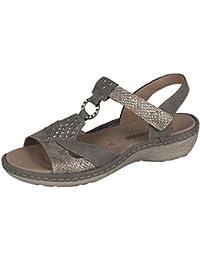 Remonte dames sandale D7668-64 boue grise, Gr. 37-42, cuir échangeables