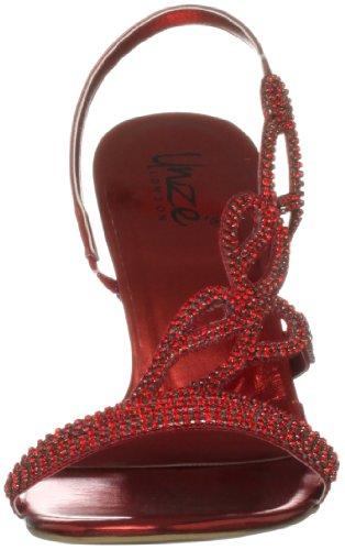 Unze London L18176w, Bride arrière femme Rouge (L18176W)