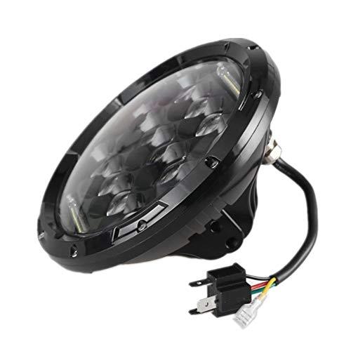 Luces LED Linterna de LED de 7 pulgadas con señal de giro DRL blanco de haz alto/bajo para Jeep Wrangler Luz de conducción